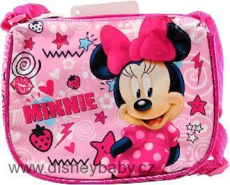 6f583c6419 Kabelka Minnie Mouse dětská kabelka s popruhem lesklá růžová ...
