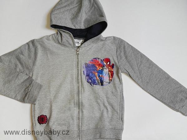 c0131a8a7c Mikina Spiderman s kapucí s potiskem