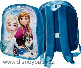 Batůžek dětský na zip 1 kapsa Frozen (Ledové Království) na záda modrý 7da550be4c